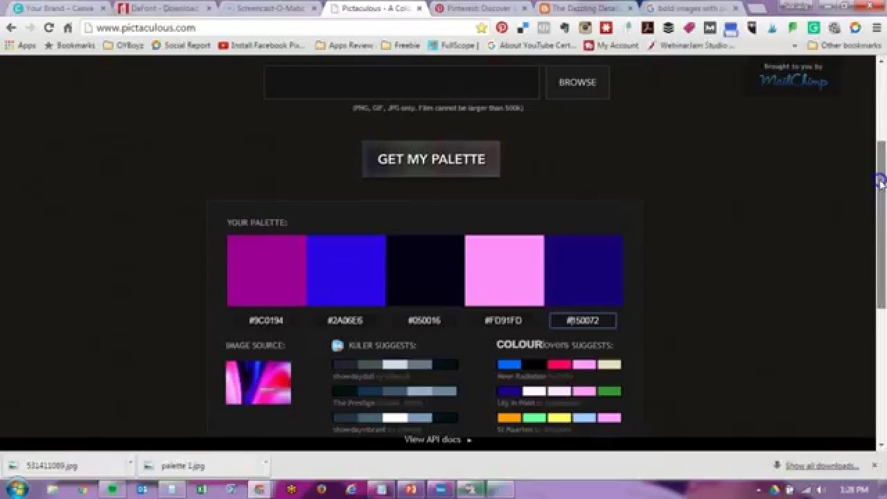 color palette generator and color schemes with pictaculous